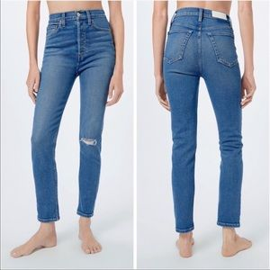 RE/DONE   90's Ultra High Rise Ankle Crop Jeans 25